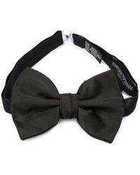 Emporio Armani Black Bow Tie - Zwart