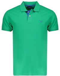 GANT Polo Korte Mouw Stretch 252105-356 - Groen