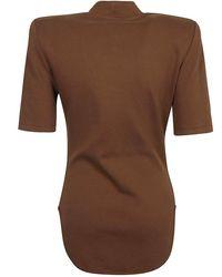 The Attico - T Shirt Tessa Marrón - Lyst