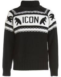 DSquared² Icon Sweater - Zwart