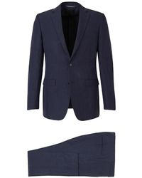 Canali Linen and Silk Suit - Blau