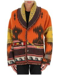 Alanui Over The Andes Knitted Cardigan - Oranje