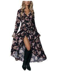 Colourful Rebel Maya paisley dress - Negro