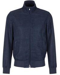 Santa Eulalia Jacket With High Neck - Blauw