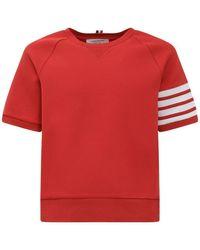 Thom Browne Short Sleeves Sweatshirt - Rood