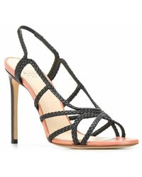 Francesco Russo Women's R1S592200200 Leather Sandals - Noir