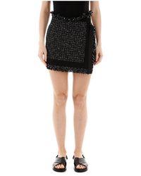 Sacai Tweed Shorts - Zwart