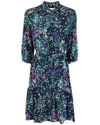 Saloni Dress - Azul