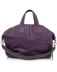 Givenchy Vintage Medium Nightingale Satchel Leather Lambskin Morado
