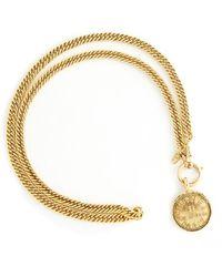Chanel Vintage Rue Cambon Coin Long Link Necklace - Marrone