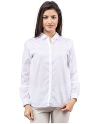 Bagutta Camicia basic maniche lunghe - Blanc