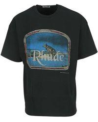 Rhude T-shirt Tt09012c - Zwart