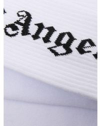 Palm Angels Socks Blanco