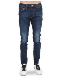 Philipp Plein Super Straight Cut Istitutional Jeans - Blu