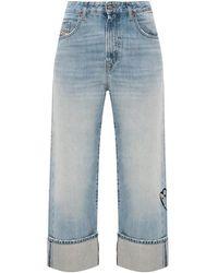 DIESEL D-Reggy Stonewashed Jeans - Blauw