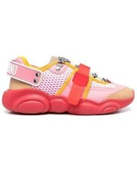 Moschino Roller Skates Teddy Sneakers - Roze