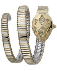 Just Cavalli Glam Chic Snake Two Tone Bracelet Jc1l073m0045 Set - Geel