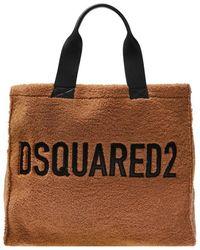 DSquared² Branded Shopper Bag - Bruin