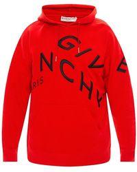 Givenchy Hoodie Met Geborduurd Logo - Rood