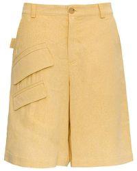 Jacquemus Colza Bermuda Shorts - Jaune