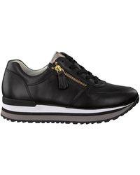 Gabor Lage Sneakers - Zwart