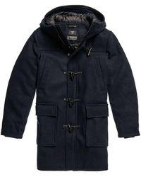 Superdry Wool Duffle Coat - Blauw
