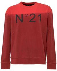 N°21 Sweatshirt With Print - Rood