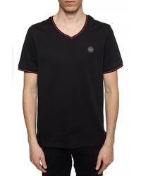 Philipp Plein - Camiseta con placa del logo Negro - Lyst