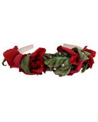 Dolce & Gabbana Bandeau à cheveux cloutés - Rouge