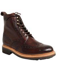 Grenson Fred Commando Boots - Marron