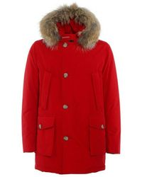 Woolrich Arctic Parka With Detachable Fur - Rot
