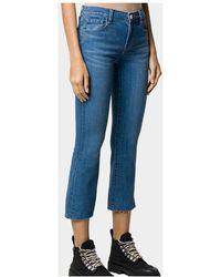 J Brand - Selena Mid Ris Crop Boot Jeans Azul - Lyst