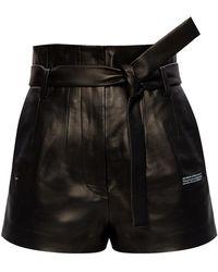 Off-White c/o Virgil Abloh High Waist Shorts - Zwart
