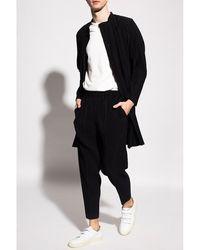 Issey Miyake Ribbed coat - Noir