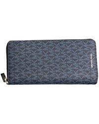 Michael Kors Zip Around Wallet - Bleu