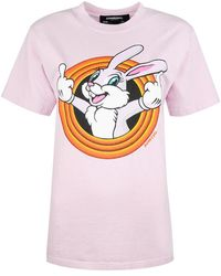 DOMREBEL T-shirt Humper - Roze