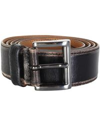 Prada Patina Sides Belt - Noir