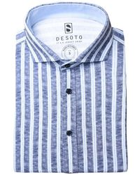 DESOTO Overhemd Shirt - Blauw
