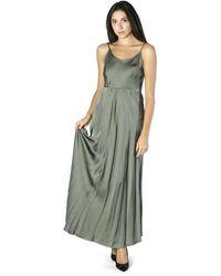 Soallure Satin Dress - Grijs