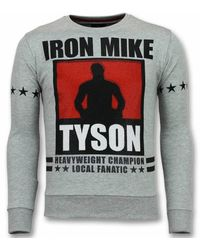 Local Fanatic Mike Tyson Trui Iron Mike Heren Sweater Truien Mannen - Grijs