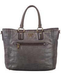 Prada Vitello shine satchel - Noir