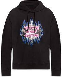 Versace Jeans Couture Printed Sweatshirt - Zwart