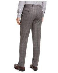 Tommy Hilfiger Pantalones de vestir a cuadros de corte moderno Gris
