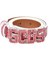 Gcds Bandana Fantasy Belt With Logo - Rose