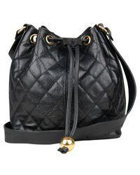 Chanel Vintage Borsa a secchiello per caviale - Nero