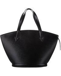 Louis Vuitton Epi Saint Jacques Pm Short Strap Leather - Zwart