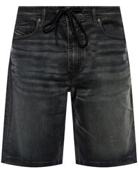 DIESEL D-willoh Cb Ne Denim Shorts - Blauw