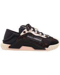 Dolce & Gabbana Ns1' Leather Sneakers - Zwart