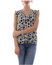 Liu Jo Wa0155 T0199 Top And Body Women Animalier - Wit