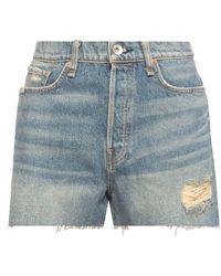 Rag & Bone High-waisted Denim Shorts - Blauw